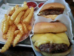 Cheeseburgers from Shake Shack DC