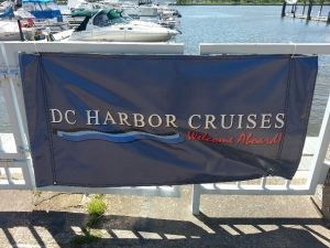 DC Harbor Cruise Sign
